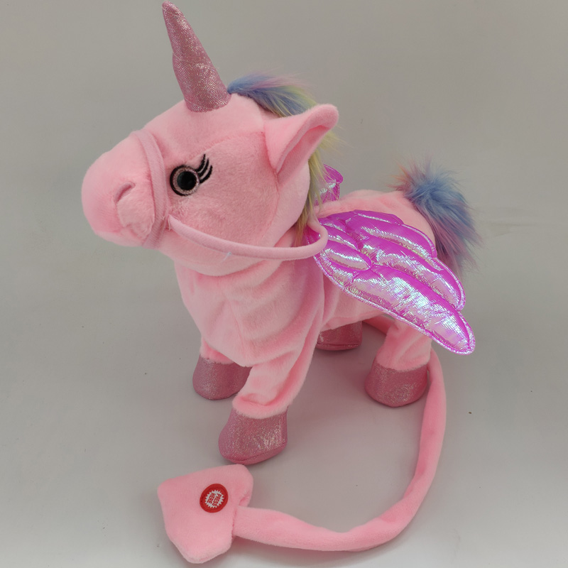 Electric Walking Unicorn Plush Toy  1