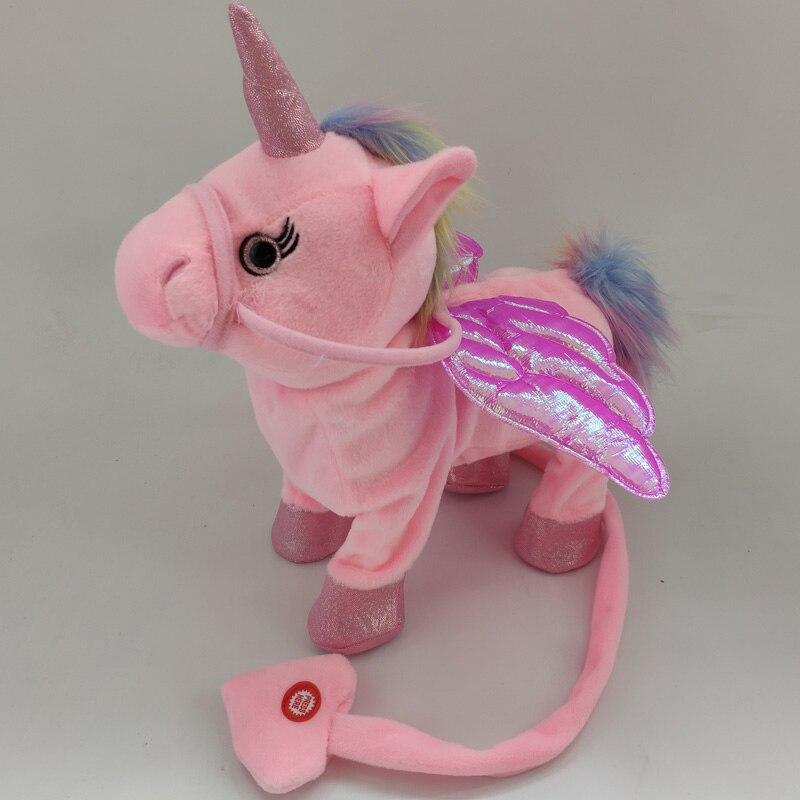 Electric Walking Unicorn Plush Toy  1