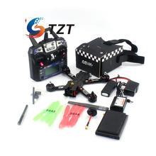 FPV 4 Axis Carbon Fiber Drone Quadcopter 220mm w Propeller F3 CC3D Flight Controller Remote Control