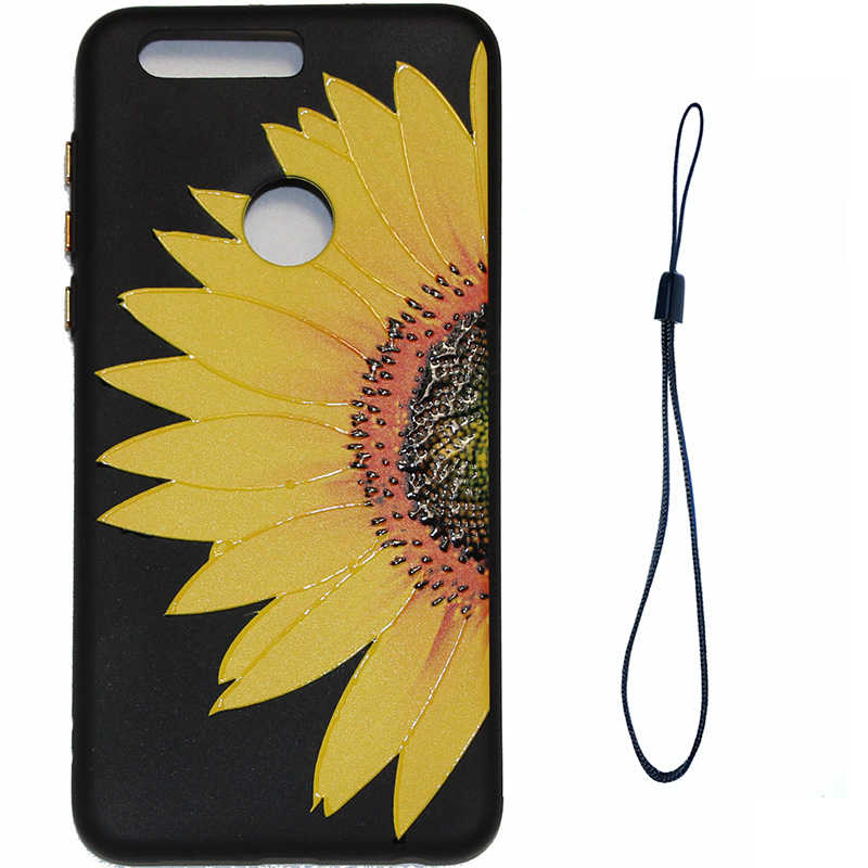 3D Relief flower silicone case huawei honor 8 (3)
