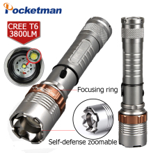 2000 Lumens XM-L T6 5 modes LED Tactical Flashlight Torch Waterproof Lamp Torch Hunting Flash Light Lantern For Camping