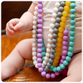 Silicone Teething Necklace Jewellery Bubblegum Beads multi For mom fashion stainless steel necklace