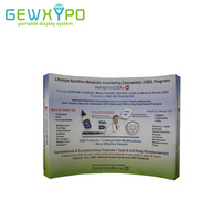 10ft Expo Booth High Quality Curved Fabric Pop Up Banner Display Stand With Single Side Printing,Portable Trade Show Backdrop