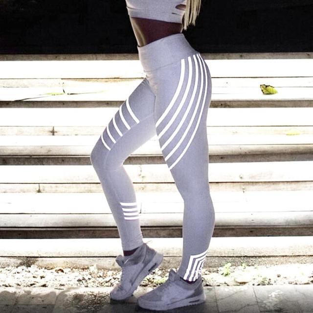 Charmed 2018 new Laser Color Leggings Women High Waist Fitness push up Trousers Stretch Pants Roupa De Ginastica wz*