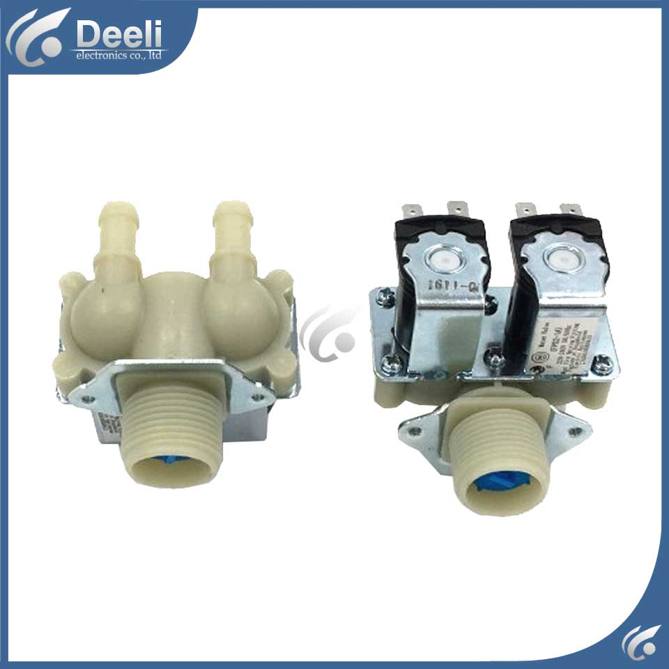 2pcs/lot new for Universal washing machine water inlet valve solenoid valve XFPS180A FPS180A good working b1jx self washing machine pvc inlet pipe white silvery grey 2 8m