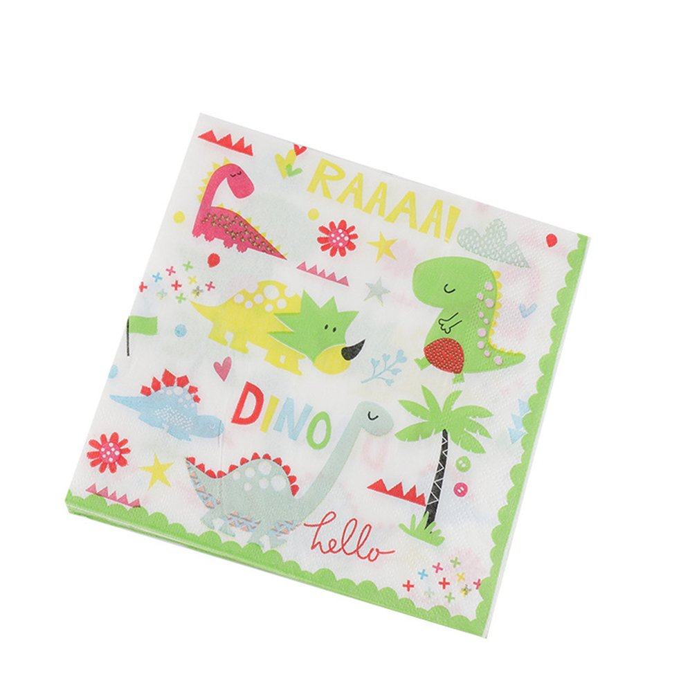 Children'S Birthday Holiday Paper Dinosaur Napkin 12PCS/SET
