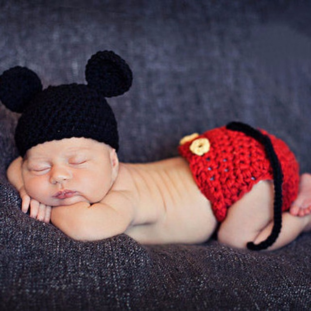 Newborn Photography Props Baby Hat Girls Boys Cap Crochet Knit Costume Outfits Newborn Fotografia Clothes Baby Accessories