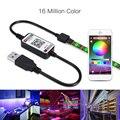 Светодиодная лента USB 5050 RGB  50 см  1 м  2 м  3 м  Bluetooth  управление приложением  гибкая светодиодная лента для телевизора  Светодиодная лента RGB  2019