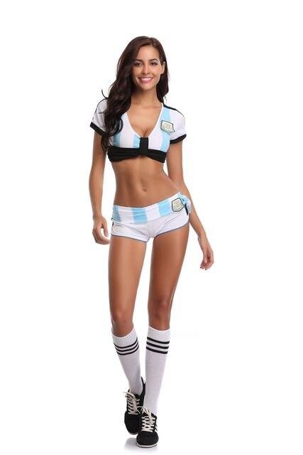 98e50e4f98d Sexy Lingerie Uniform Soccer Player Cheerleader Football Girl party dress  Fancy Dress Costume SM88895