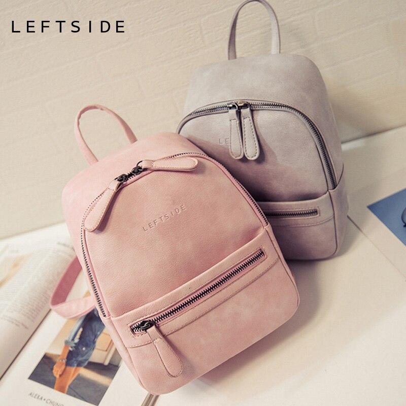 Для женщин Рюкзак Новая мода Повседневное PU кожаные женские женский рюкзак для девочек-подростков школьная сумка одноцветное мини маленький рюкзак