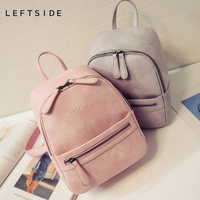 Women Backpack New Fashion Casual PU Leather Female feminine backpack for teenage girls school bag solid mini Small backpack