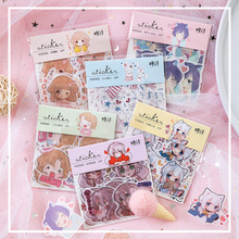 40pcs/lot Cute1902 Girl Series Paper Sticker Decoration Diy Ablum Scrapbooking Label Stickers Gift
