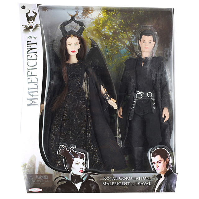 Us 148 61 10 Off Aliexpress Com Buy Disney 2pcs Original Josephina Descendants 2 Maleficent Diaval Princess Toy Bjd Dolls Fashion Action Figures