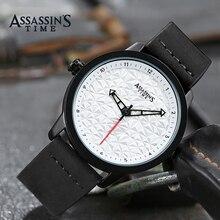 Мужские часы Assassin's Time Лучшие бренды Роскошные водонепроницаемые кварцевые часы Мужские кожаные спортивные наручные часы Часы Мужчины Мужские часы
