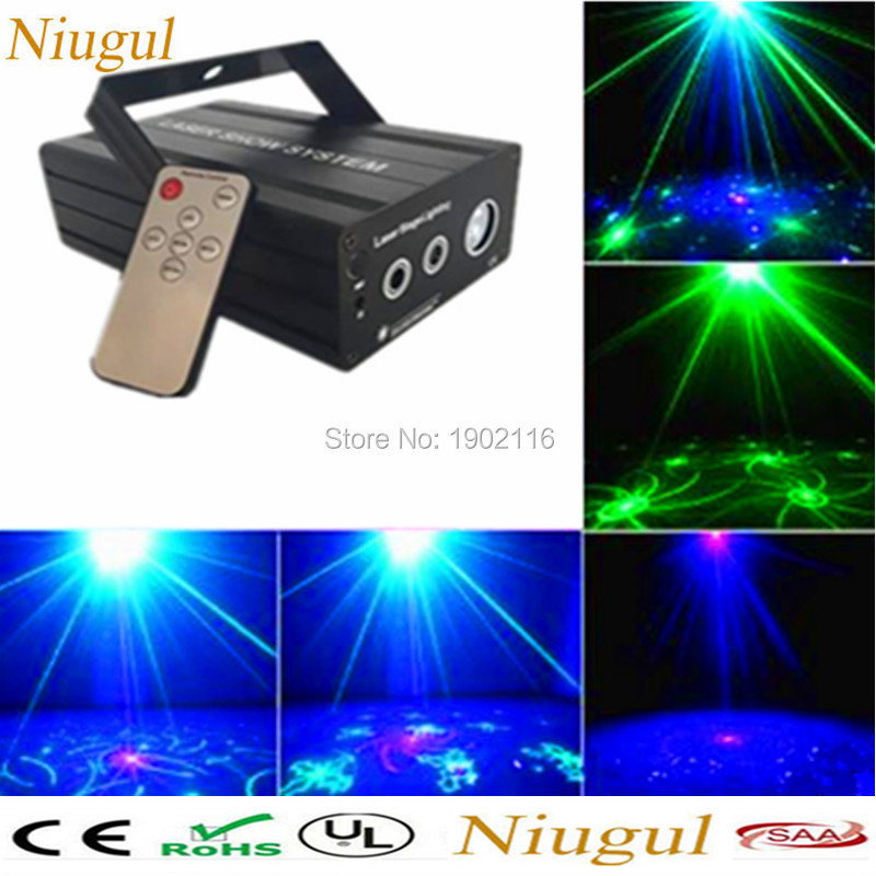 IR Remote Mini 24/48 Gobo RGB Led Stage Laser Lighting Equipment Effect ktv Disco DJ Light Home Party Lights led patterns laser