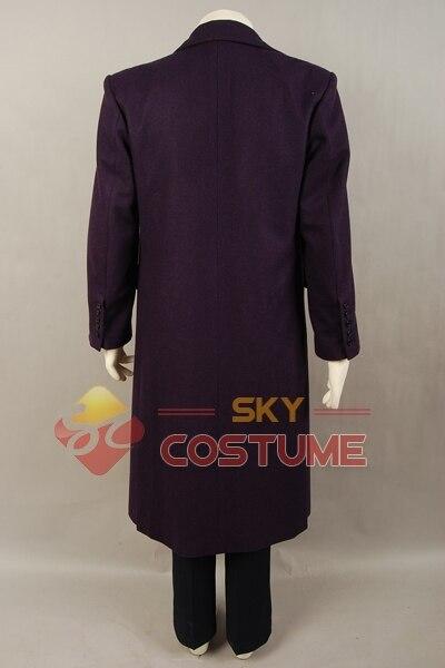 Batman The Dark Knight Joker Cosplay խրամատի բաճկոն + - Կարնավալային հագուստները - Լուսանկար 4