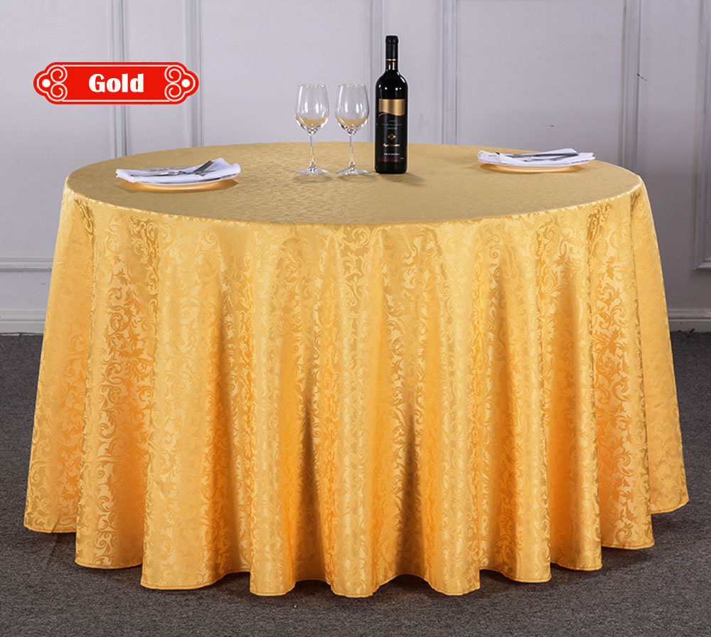 White round tablecloths cheap - Wholesale 10pcs Lot Multi Size Grass Curl Polyester Round Dinner Table Cloth Hotel Restaurant Washable Durable White Tablecloth