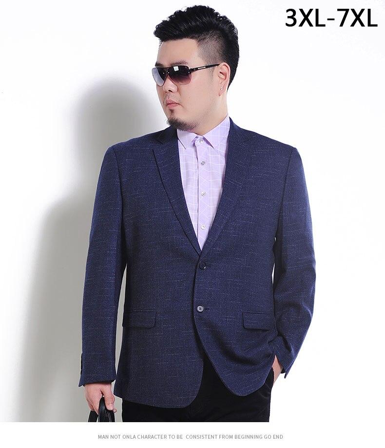 Suits & Blazers Blazers 2019 New Style Mens Suit Extra Large Blazer Dress Jacket High Qualtiy Fashion Men Very Big Blazer Autumn Winter Plus Size Xxxl 4xl 5xl 6xl 7xl Big Clearance Sale