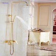 Dofaso душ ванная комната все медные золотого и розового античная латунь Ванна смеситель для душа Ванная комната Vintage смеситель для душа s