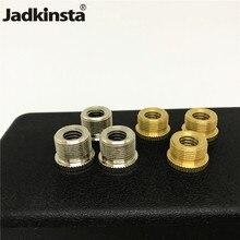 Jadkinsta 50 قطع 5/8 إلى 3/8 ترايبود المسمار ميكروفون المسمار محول النحاس Mic محول ستوديو إكسسوارات