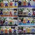 Бесплатная Доставка 4 шт./компл. Dragon Ball Z 12 см ПВХ Фигурку Игрушки Модель Собирать фигурки куклы