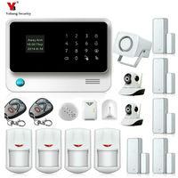 Yobang безопасности WI FI GSM сигнализация системы безопасности Главная Alarme Residencial сем ip камеры видеонаблюдения Наборы + Сигнализация утечки газа