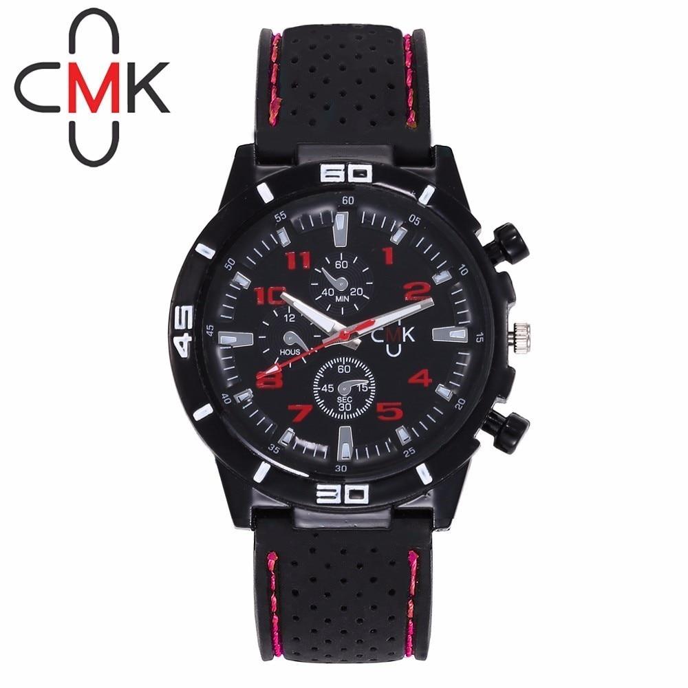 Fashion Men Silicone Sports Wrist Watch For CMK Men's Military Quartz Watch Gift Clock Relogio Masculino Hot