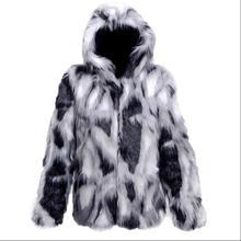 S-6XL, новинка, большие размеры, пальто с мехом, индивидуальная повседневная мужская осенняя и зимняя одежда, имитация лисьего меха, с капюшоном, плюшевая куртка