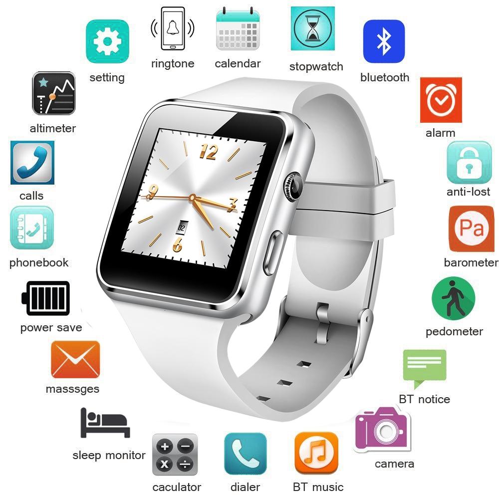 BANGWEI SmartWatch Men Casual Fashion Rubber Strap Smart Watch Women Men Sport Pedometer LED Stopwatch Support SIM Make Call+Box