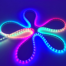 addressable rgb led ws2811 strip chasing led light WS2812B Waterproof 5050 SMD RGB  LED Strip White PCB 30/60 LEDs/M DC 12V