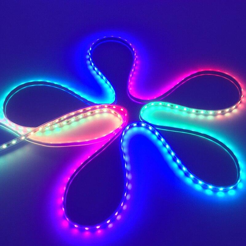 addressable rgb led ws2811 strip chasing led light WS2812B Waterproof 5050  SMD RGB LED Strip White