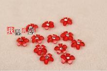 Five petals Resin accessories wholesale 500 PCS lot mobile phone shell Nail art DIY decorations 8