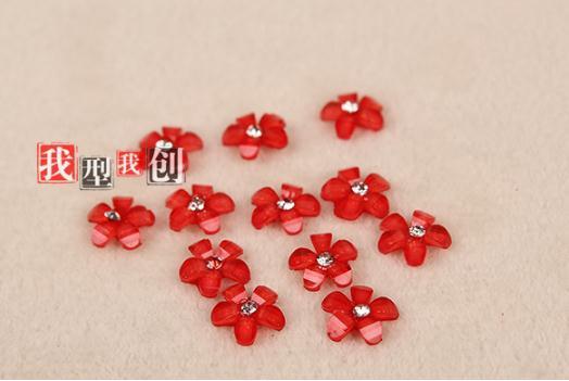 Five petals Resin font b accessories b font wholesale 500 PCS lot font b mobile b