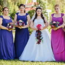 2016 Long Bridesmaid Dresses A Line Chiffon Vestido De Festa Floor Length Capped Sleeveless Backless Zipper Dresses For Wedding