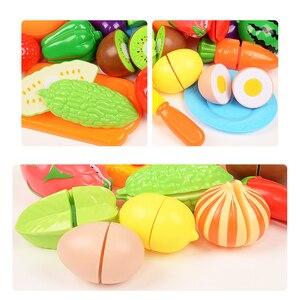 Cut Gemüse Obst Spielzeug Pretend Play Küche Lebensmittel Kunststoff Simulation Kochen Schneiden Lebensmittel Spiele Set Spielzeug Für Kinder Geschenke