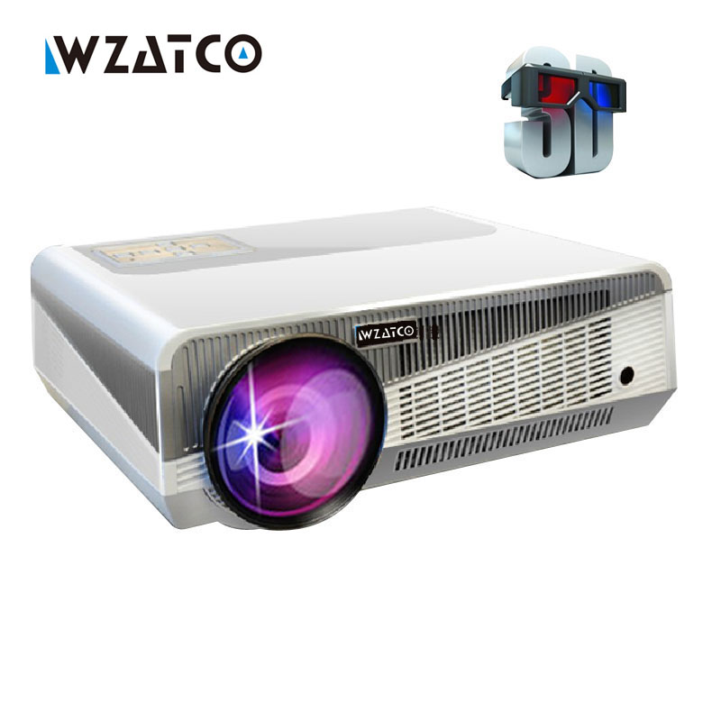 Hot sale Full HD 5500lumens Android 4.4 WiFi RJ45 1080P Home Cinema Video LED Portable Overhead 3D projection Projector proector 2016 win10 3d 1080p full hd dlp led video 4k projector 1280x800 hd bluetooth wifi 5500 lumens 1g 32g and support wireless wifi