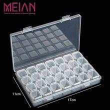 28 Съемная Алмазная вышивка коробка алмазные аксессуары для рисования чехол прозрачные пластиковые бусины дисплей коробки для хранения Органайзер держатель