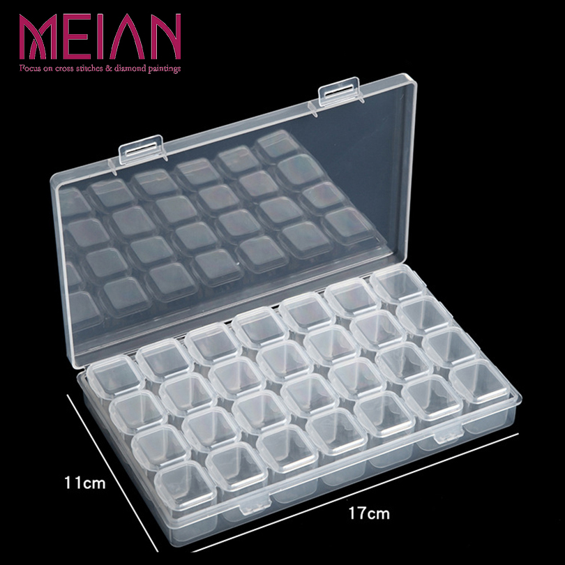28 Detachable Diamond Embroidery Box Diamond Painting Accessory Case Clear Plastic Beads Display Storage Boxes Organizer Holder