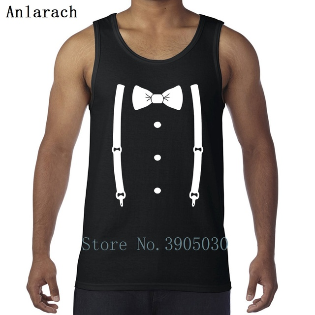 fbbe0489bdefc Bow Tie For The Cool Guy Vest Cotton Simple Classic Bodybuilding Creature Men  Tank Top Clothing Formal Fun Summer
