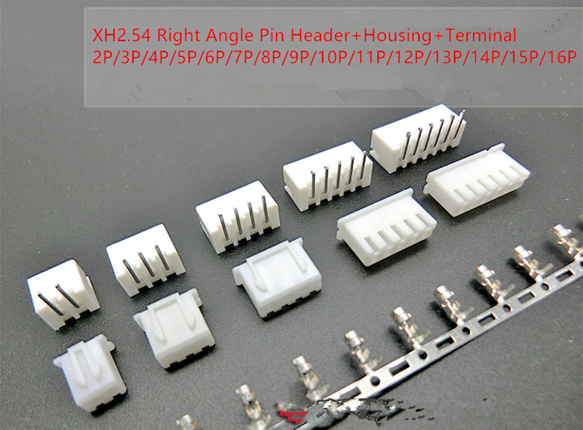 XH2.54 2P 3P 4P 5P 6P 7P 8P 9P 10P 11P 12P 13P 14P 15P 16P Connector 2.54mm Right Angle Male Pin Header+Housing+Terminal double row dupont kit 1p 2 2 2 3 2 4 2 5 2 6 2 7 2 8 2 9 2 10pin housing plastic shell terminal jumper wire connector set