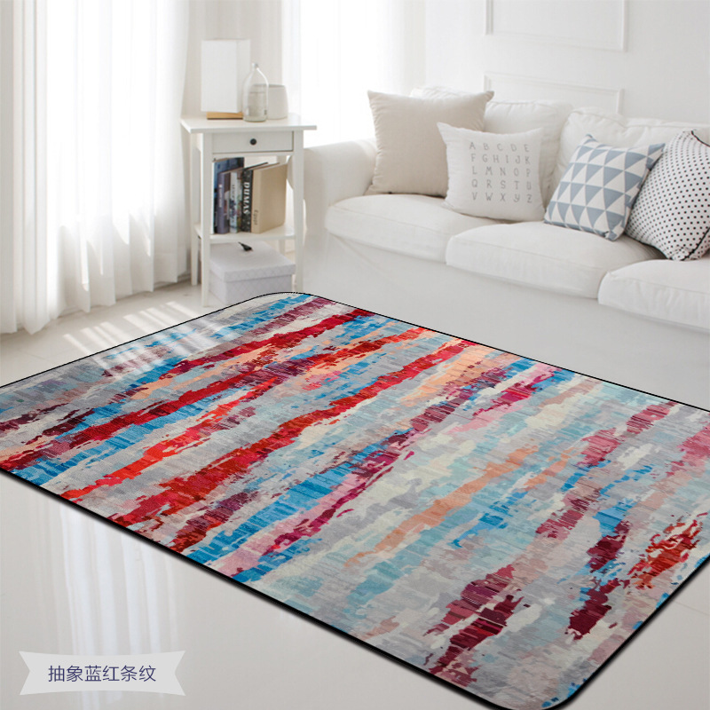 Abstract Art Rugs And Carpets For Home Living Room Colorful Painting Bedroom Rug Anti Slip Coffee Table Floor Area Carpet in Carpet from Home Garden
