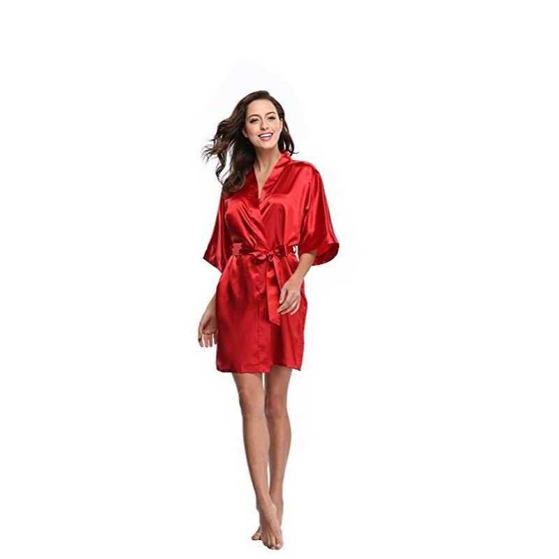 Новый сиренево-синий китайский Для женщин сексуальное шелковое белье мини платье-халат кимоно для ванной платье Ночная одежда Mujer Pijama S M L XL XXL D128-010