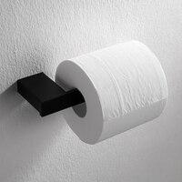 Современные Черный 304 Нержавеющаясталь Туалет Бумага держатель Ванная комната держатель для туалетной бумаги настенное крепление площад...