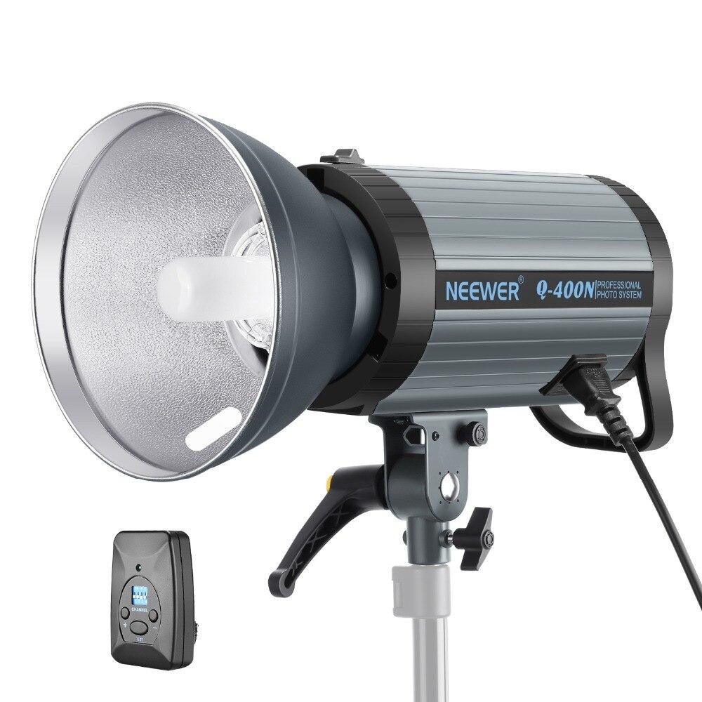 Neewer 400 Вт GN65 стробоскопическая вспышка для студии Monolight с 2.4g беспроводное устройство триггер и моделирование лампа переработку в 0,01 0,5 сек (