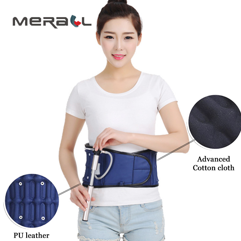 Waist Support Corset Posture Brace Inflatable Shape Belt Prevention Lumbar Vertebra Decompression Back Pain Therapy Health Tool treatment injury keep warm prevention men health care waist belt function lumbar brace