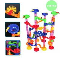 105pcs DIY Construction Marble Race Run Maze Balls Track Building Blocks Children Toy Kids Baby Educational