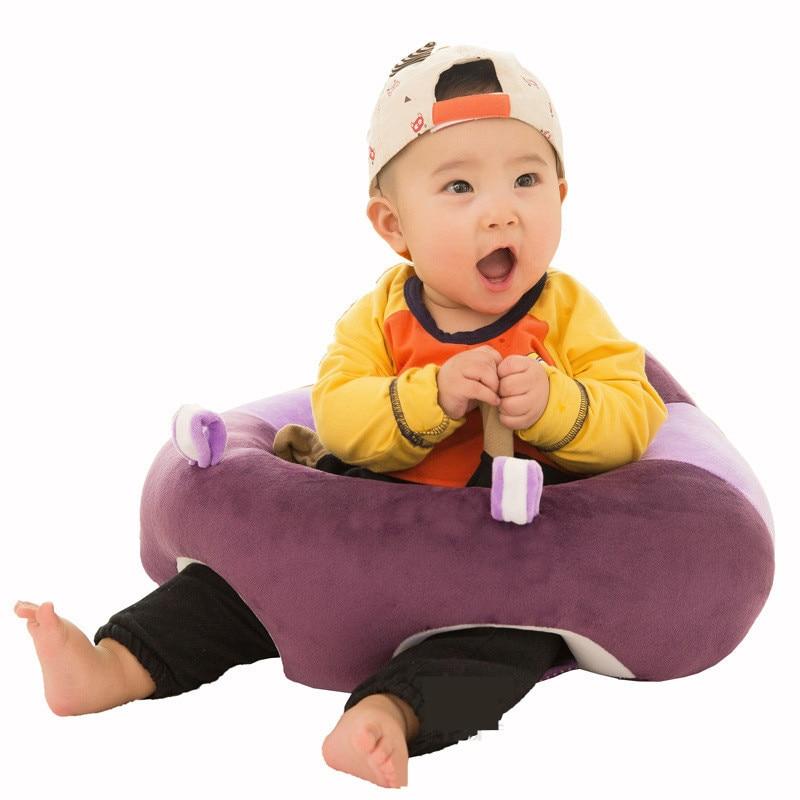 Cartoon Kids Sofa PP Cotton Filler Baby Sofa Plush Toy One Seat Baby Chair Lazy Tatami Puff Kids Bean Bag Living Room Pouf