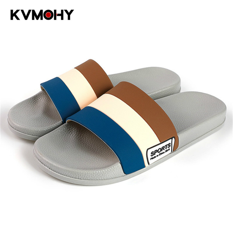 Men Slippers Sandals Flip-Flops Outdoor-Shoes Beach-Slides Soft Summer Indoor Couple title=