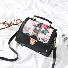 Фотография Women Bag Handbag Flower Bag Floral Tote Ladies Evening Strap Bags printing Korean Colorful Female Messenger mini Small Bags Sac