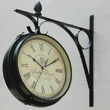 Double Sided Wall Clock Digital Watch Vintage Wall Clock Wanduhr Duvar Saatleri Clocks Home Decor Reloj de pared decorativo Klok